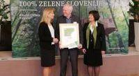 Sveta Ana prejela srebrni znak Slovenia Green Destination