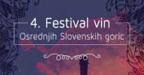 ČETRTI FESTIVAL VIN OSREDNJIH SLOVENSKIH GORIC